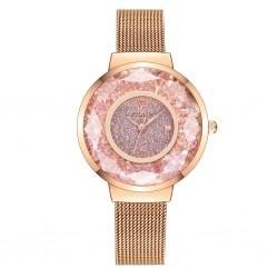 Reloj cristales rosas malla...