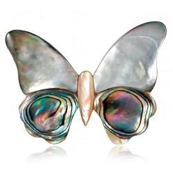 Broche simil nácar mariposa...