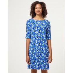 Vestido corto azul turquesa...
