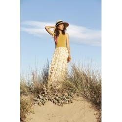 Vestido largo amarillo...
